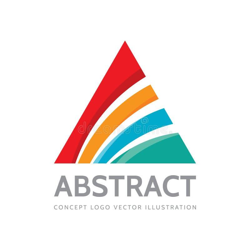 Abstracte driehoek - vectorembleemontwerp Piramideteken Gekleurde vormenstructuur Het element van het ontwerp stock illustratie