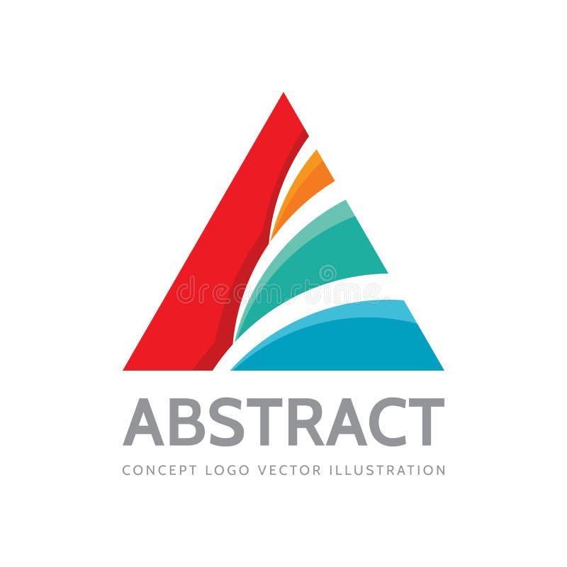 Abstracte driehoek - vectorembleemontwerp Piramideteken Gekleurde vormenstructuur Het element van het ontwerp royalty-vrije illustratie