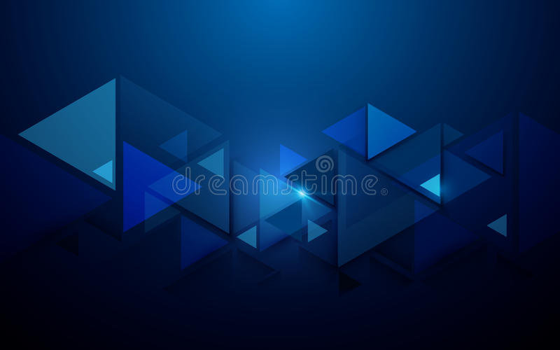 Abstracte driehoeken en de futuristische achtergrond van het technologieconcept vector illustratie