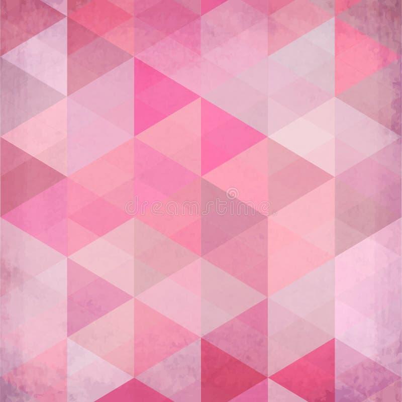 Abstracte driehoeken uitstekende vector roze achtergrond vector illustratie