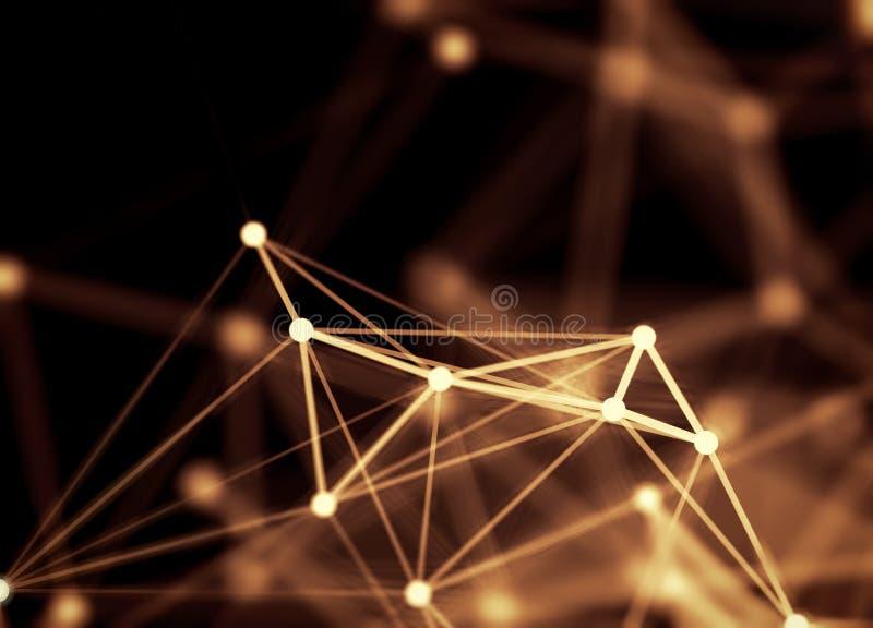 Abstracte driehoekenachtergrond vector illustratie