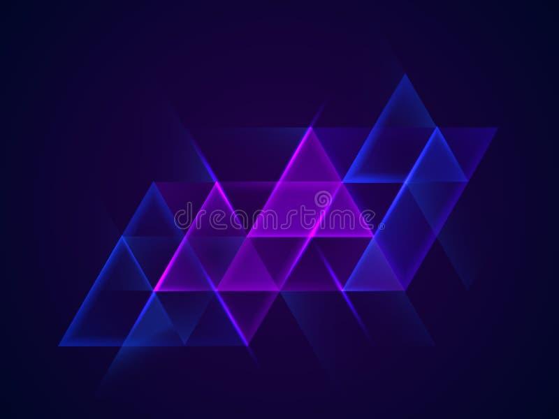Abstracte driehoekenachtergrond stock foto