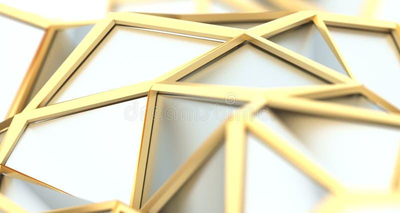 Abstracte Driehoekige Lage Polyoppervlakte royalty-vrije illustratie
