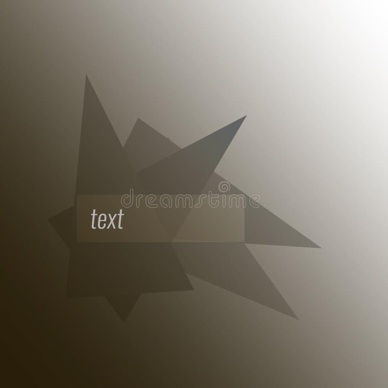 Abstracte driehoeksachtergrond 3D Driehoeken Vector illustratie Eps 10 stock illustratie