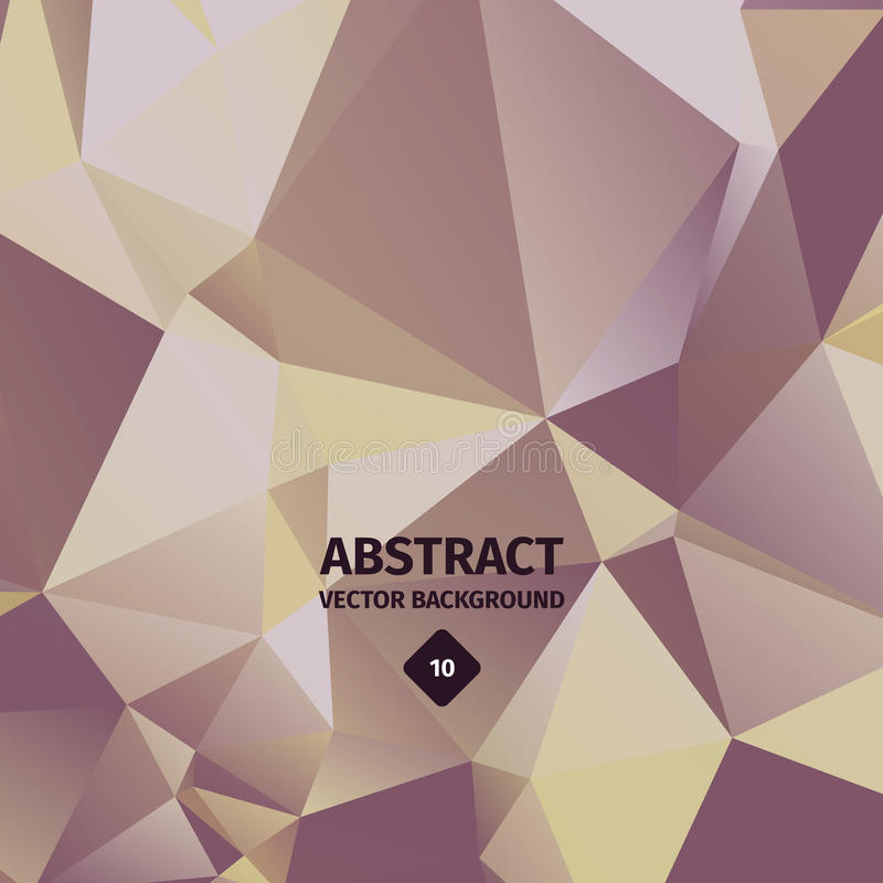 Abstracte driehoeksachtergrond, gouden luxe vector illustratie