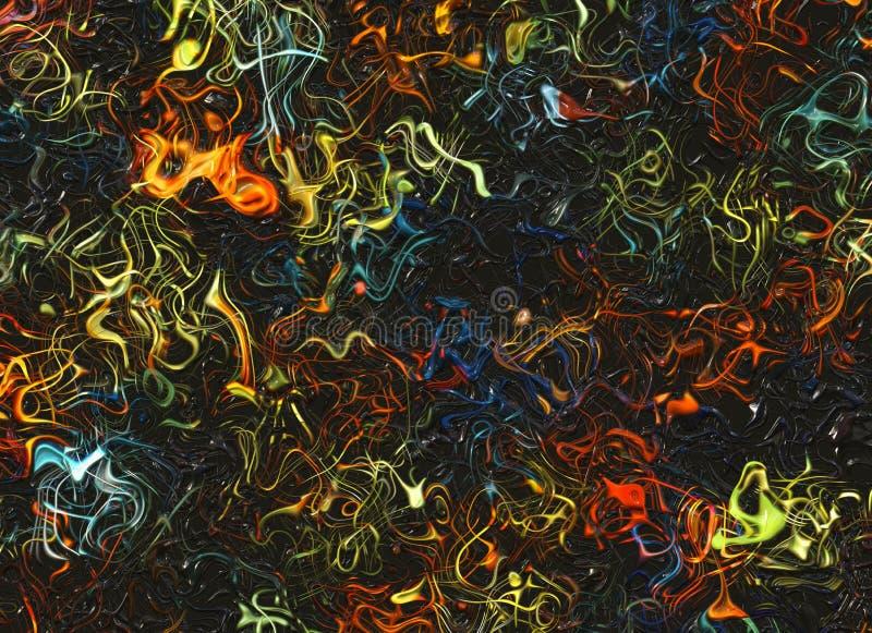 Abstracte dromerige multicolored lichte lijnenachtergronden stock illustratie