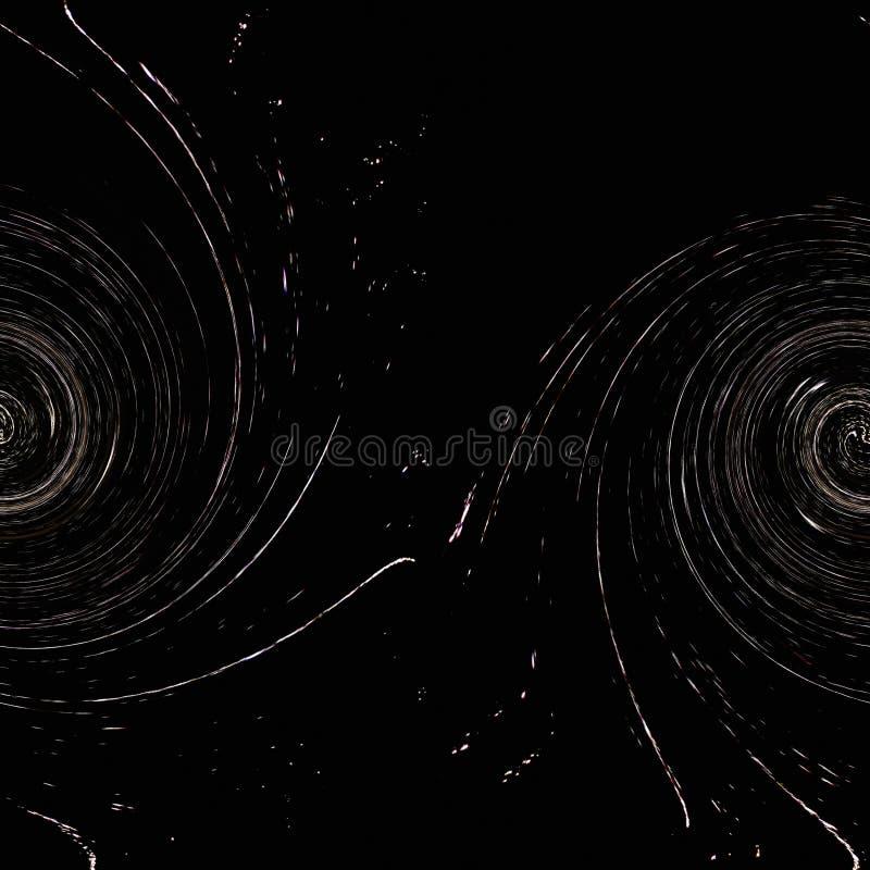 Abstracte dubbele spiraalvormige structuur zoals een melkweg in het heelal stock illustratie