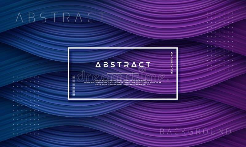 Abstracte, Dynamische en Geweven purpere, donkerblauwe achtergrond voor uw ontwerpelement en anderen stock illustratie