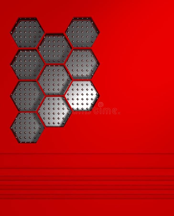 Abstracte dynamische rode achtergrond stock illustratie