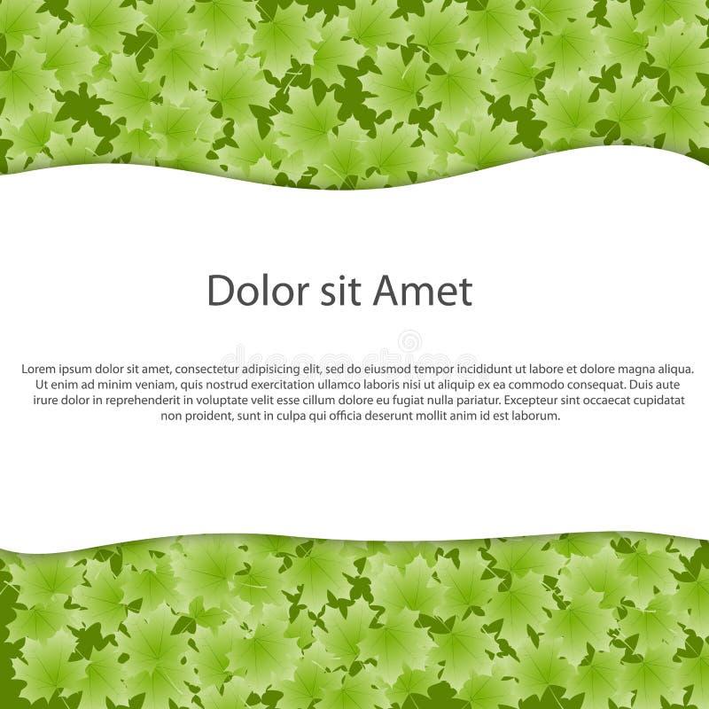Abstracte ecologieachtergrond voor tekst. Vectorillus stock illustratie