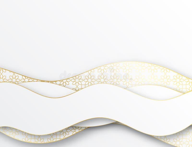 Abstracte elegante 3d document besnoeiingsachtergrond vector illustratie
