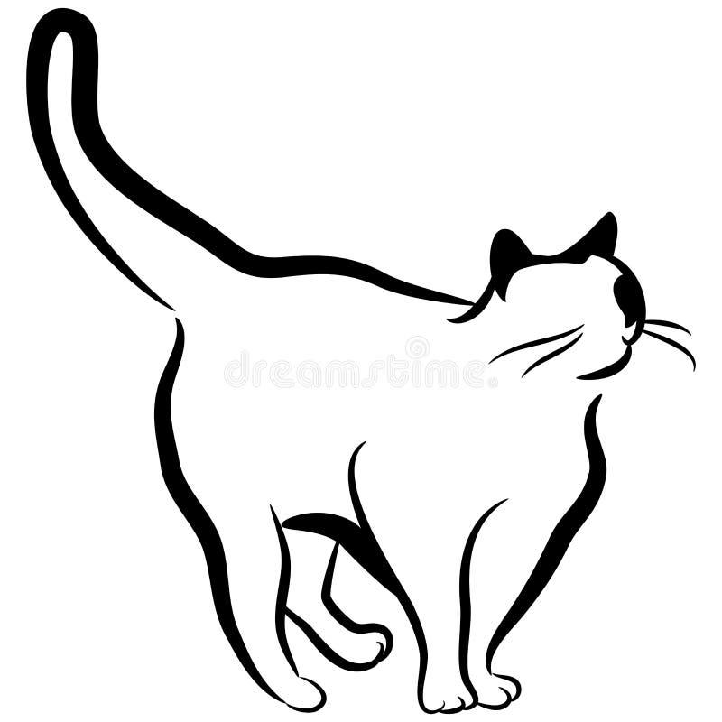 Abstracte Elegante Kat stock illustratie