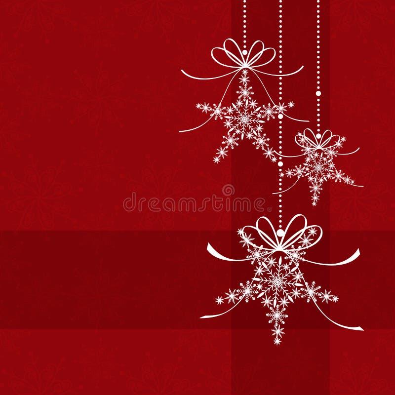 Abstracte elegantie rode Kerstkaart stock illustratie