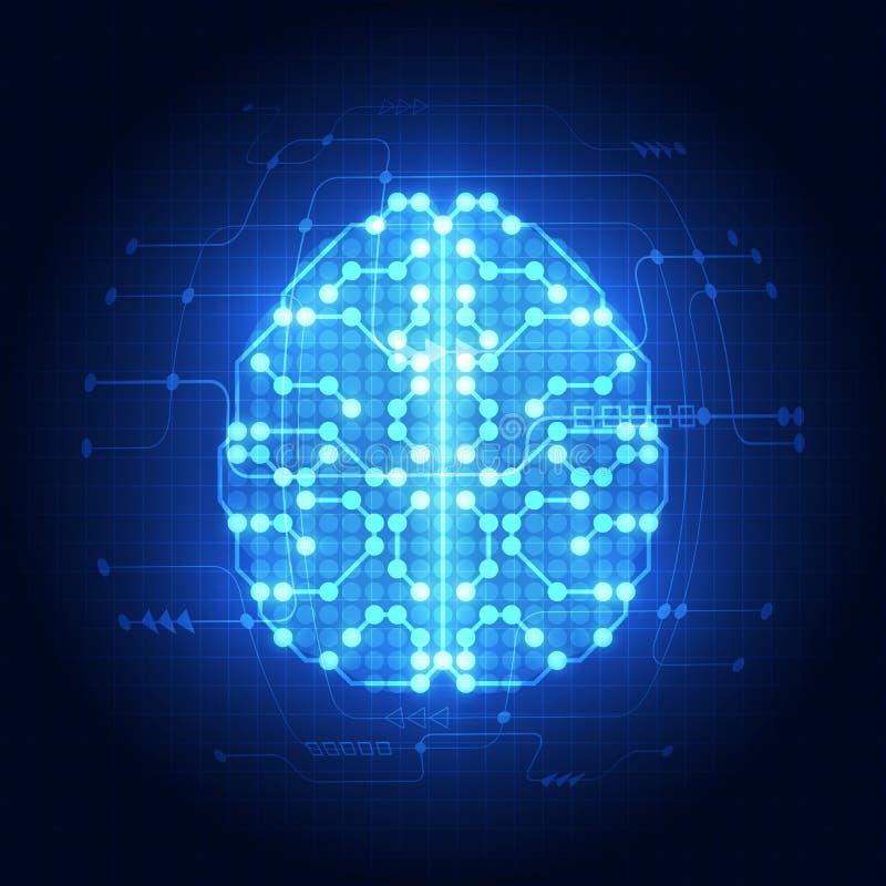 Abstracte elektrische krings digitale hersenen, technologieconcept