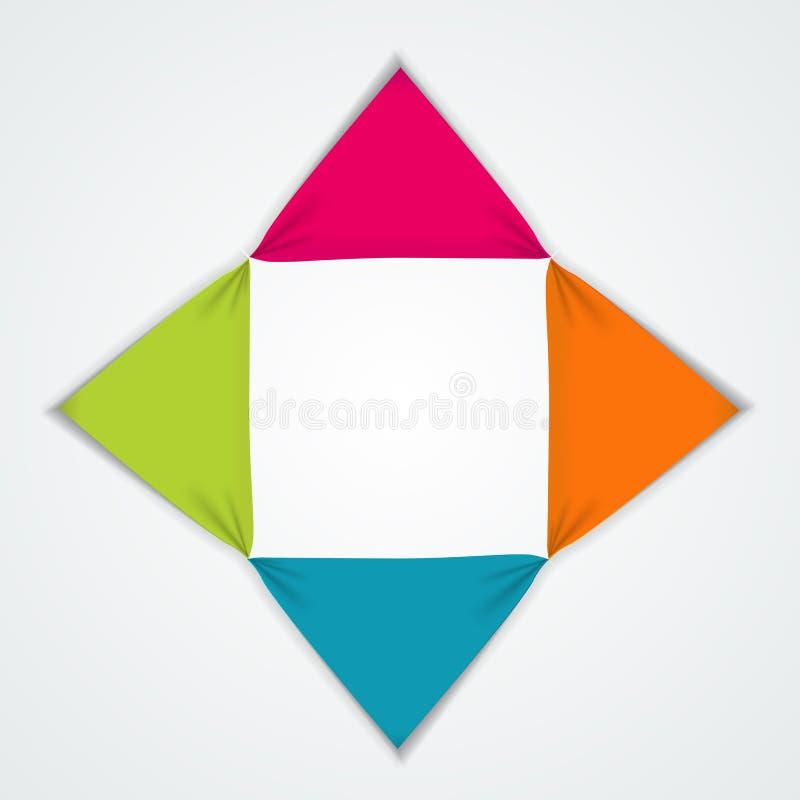 Abstracte Elementen van Grafiek, Diagram met 4 Stappen, Opties Busin vector illustratie