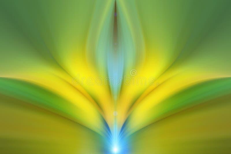 Abstracte energiebloem Creatieve achtergrond stock foto