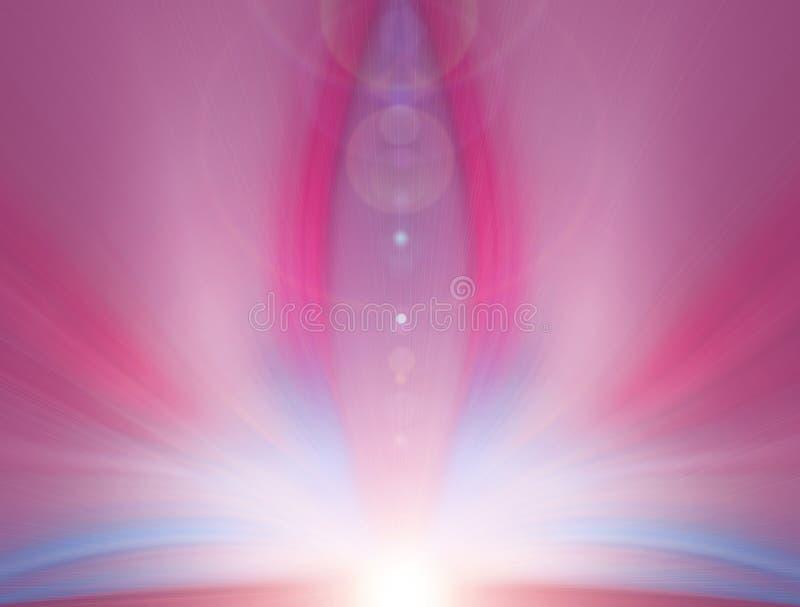Abstracte energiebloem, creatieve achtergrond stock fotografie