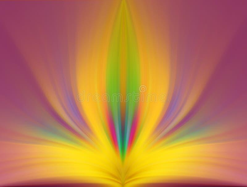 Abstracte energiebloem, creatieve achtergrond royalty-vrije stock afbeelding