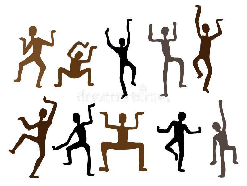 Abstracte etnische dansmensen. Vector Illustratie vector illustratie