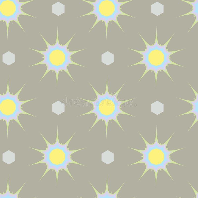 Abstracte etnische geometrische druk met sterren naadloos patroon vector illustratie