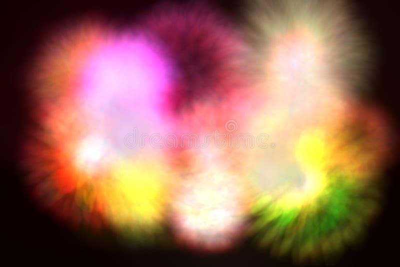 Abstracte explosielichten royalty-vrije stock foto