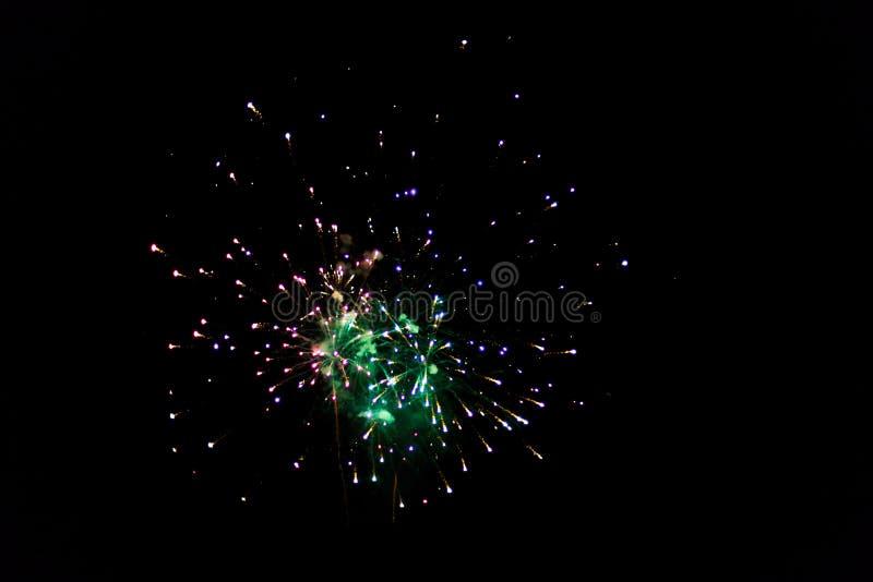 Abstracte explosies van vuurwerk stock foto's