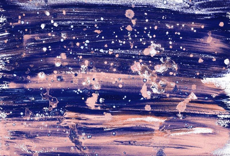 Abstracte feestelijke hand geschilderde achtergrond met schijnwerpers en penseelstreken De Lichten van Kerstmis stock afbeeldingen
