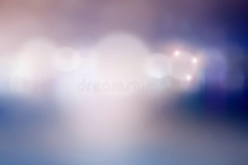 Abstracte feestelijke lichtenachtergrond bokeh Hemel en diepe ruimte royalty-vrije stock afbeelding