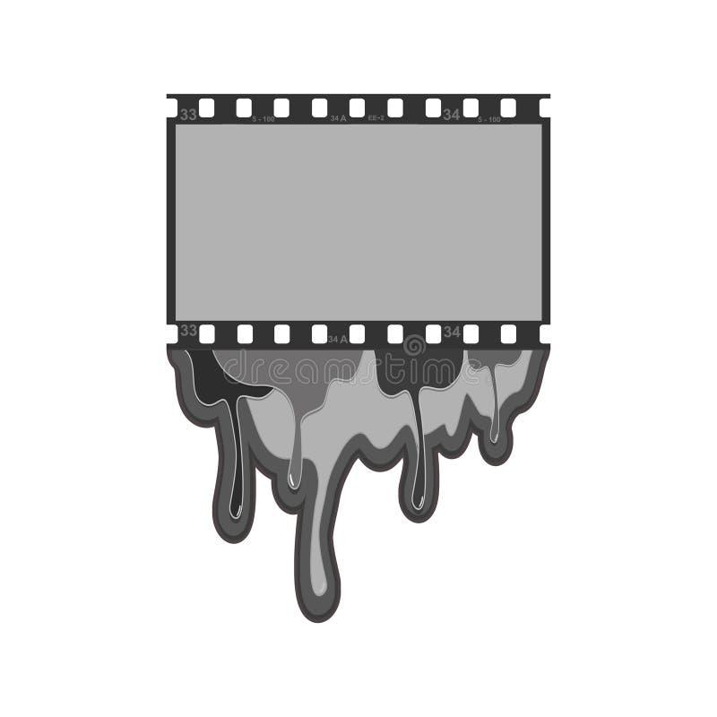Abstracte Film als achtergrond, de filmstrip van de filmfoto op witte achtergrond geïsoleerde objecten samenvatting vector illustratie
