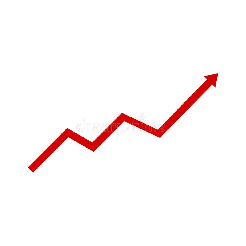 Abstracte financiële grafiek met pijl vector illustratie