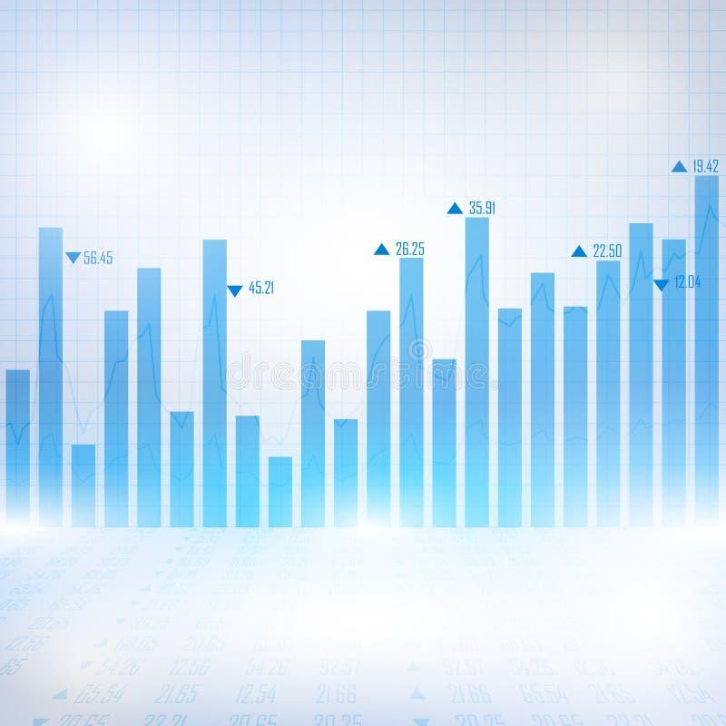 Abstracte financiële grafiek met uptrend lijngrafiek royalty-vrije illustratie