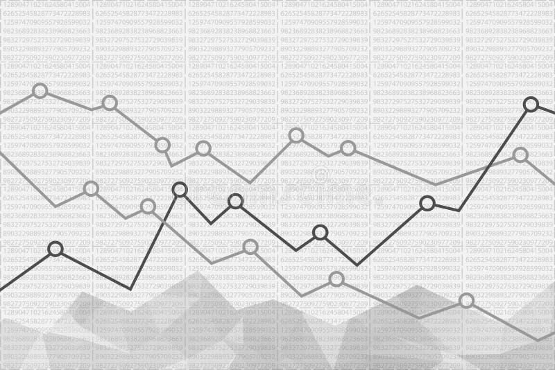 Abstracte financiële grafiekachtergrond Vector illustratie vector illustratie