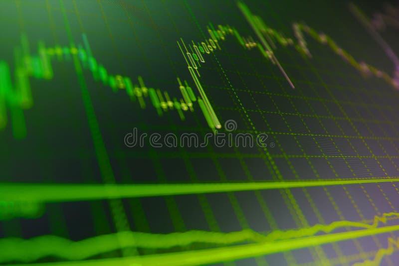 Abstracte financiënachtergrond Conceptuele mening van de wisselmarkt royalty-vrije stock afbeeldingen