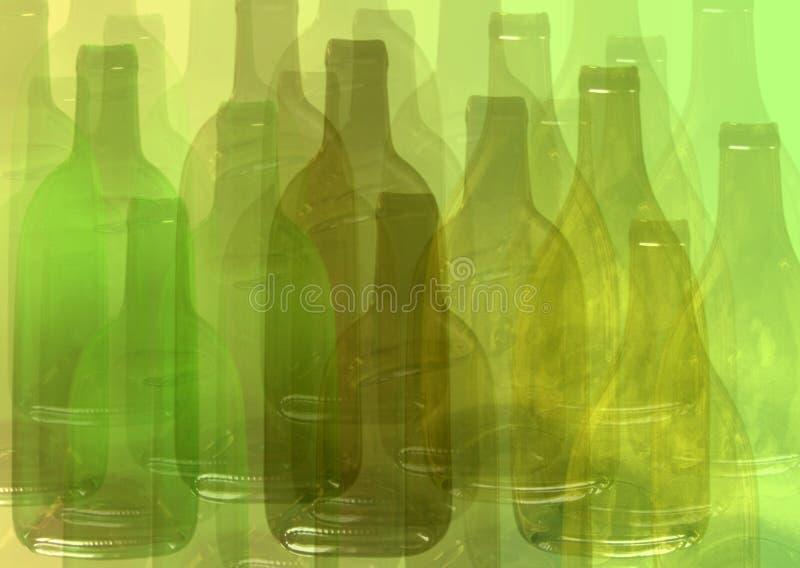Abstracte flessenachtergrond vector illustratie