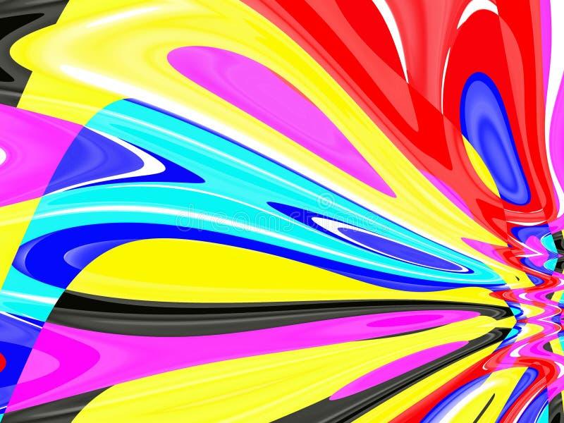 Abstracte fonkelende vloeibare vormen, meetkunde, heldere achtergrond, kleurrijke meetkunde vector illustratie