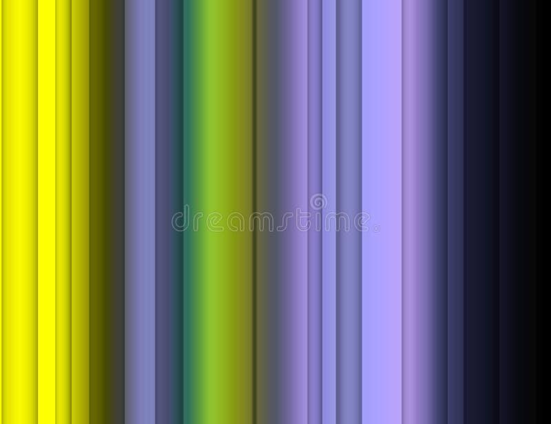Abstracte fosforescerende blauwe gele kleuren, lijnen, fonkelende achtergrond, grafiek, abstracte achtergrond en textuur stock illustratie