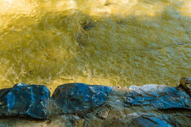 Abstracte foto van waterspiegel met rimpeling royalty-vrije stock foto