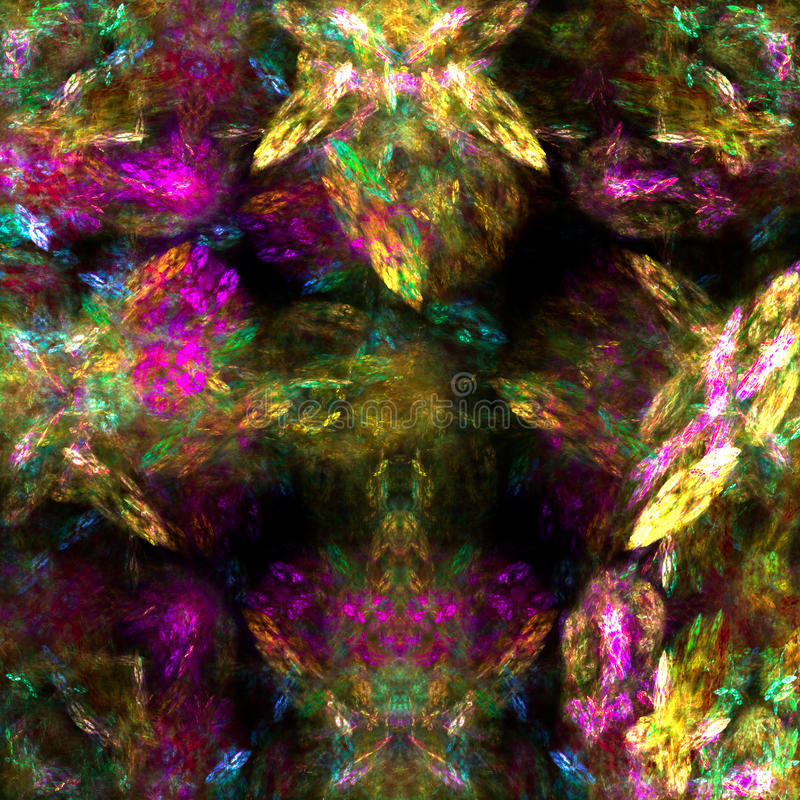 Abstracte Fractal Achtergrond vector illustratie