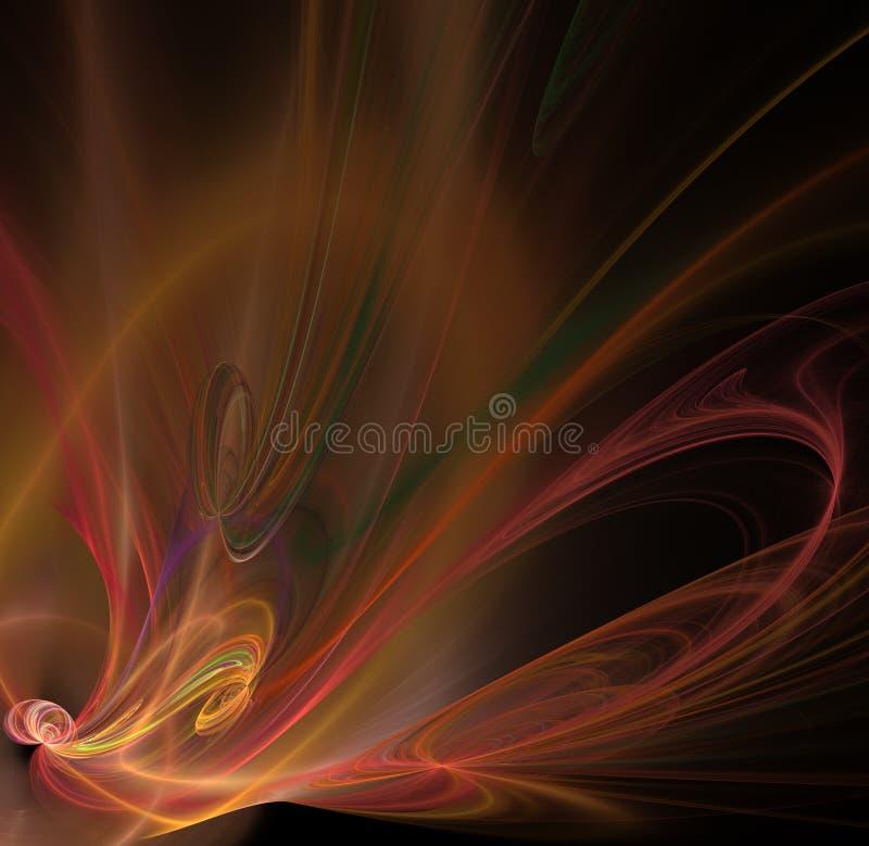 Abstracte fractal achtergrond met bloem of vlindertextuur royalty-vrije illustratie