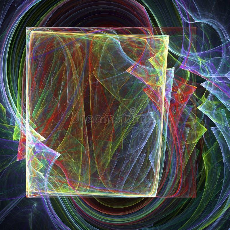 Abstracte fractal achtergrond met diverse kleur vector illustratie