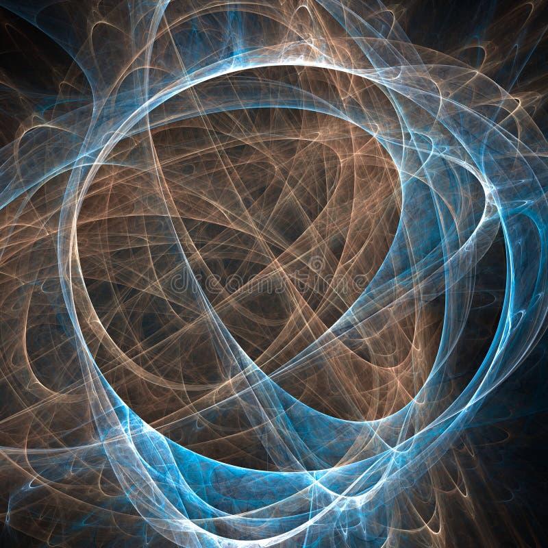 Abstracte fractal achtergrond met diverse kleur stock illustratie