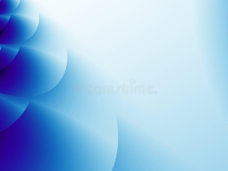 Abstracte fractal achtergrond met lagen overlappende cirkelvormen vector illustratie