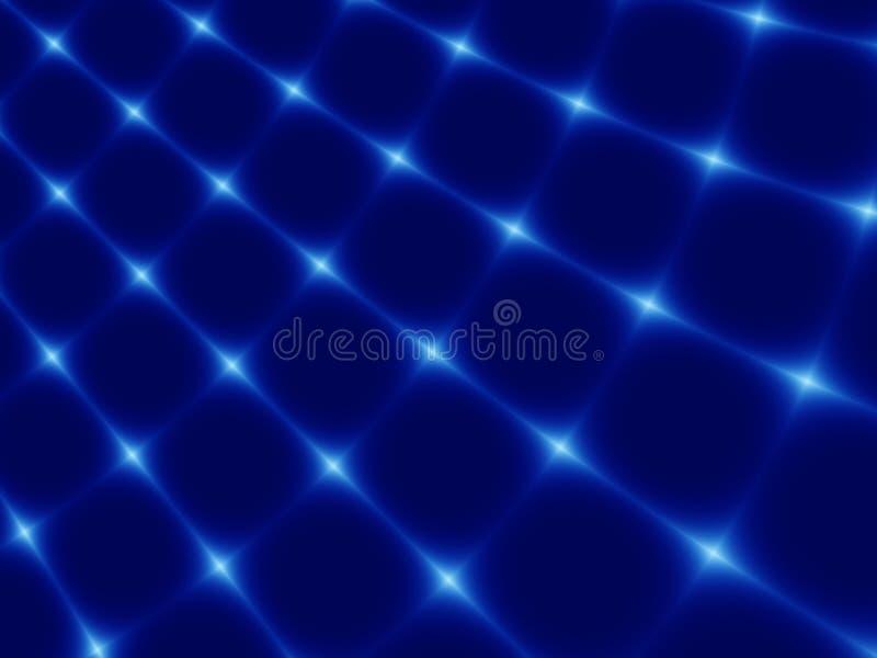 Abstracte fractal blauwe achtergrond stock fotografie