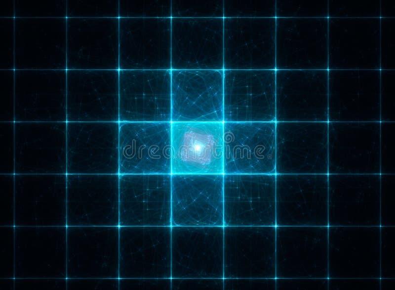 Abstracte fractal blauwe hebzucht royalty-vrije illustratie