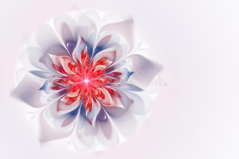 Abstracte fractal bloemachtergrond, door de computer geproduceerd beeld voor kaarten, embleem, uitnodiging, ontwerpconcepten, Web royalty-vrije illustratie