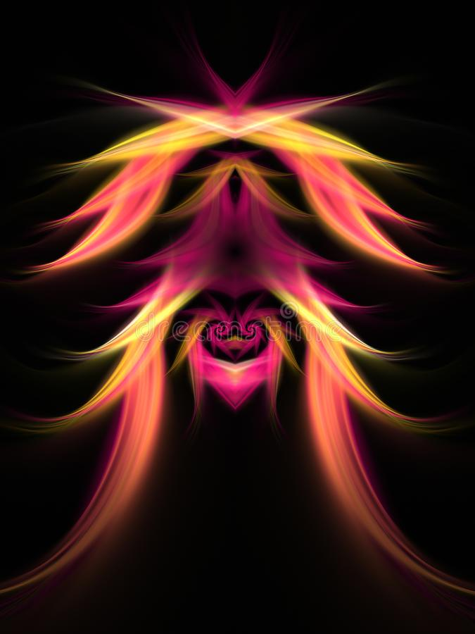Abstracte fractal boom royalty-vrije illustratie