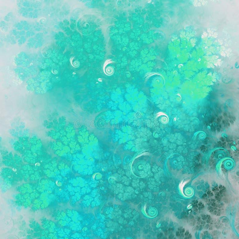 Abstracte fractal boomtak vector illustratie