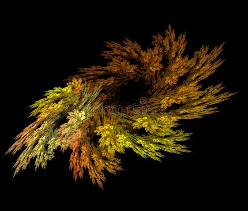Abstracte fractal de herfstkroon stock afbeeldingen