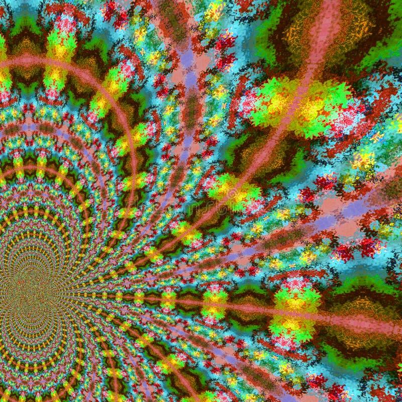 Abstracte fractal diagonale caleidoscoop in regenboogkleuren vector illustratie