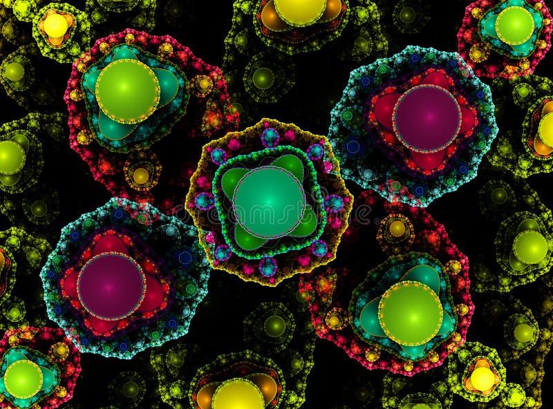 Abstracte fractal geeft achtergrond gestalte royalty-vrije illustratie